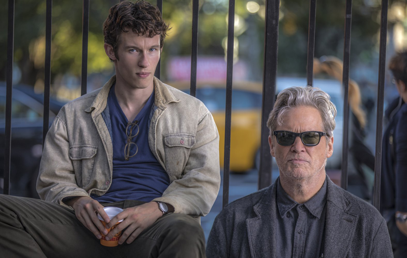 Callum Turner and Jeff Bridges in The Only Living Boy in New York, Photo credit: Niko Tavernise, Courtesy of Amazon Studios and Roadsid Attractions
