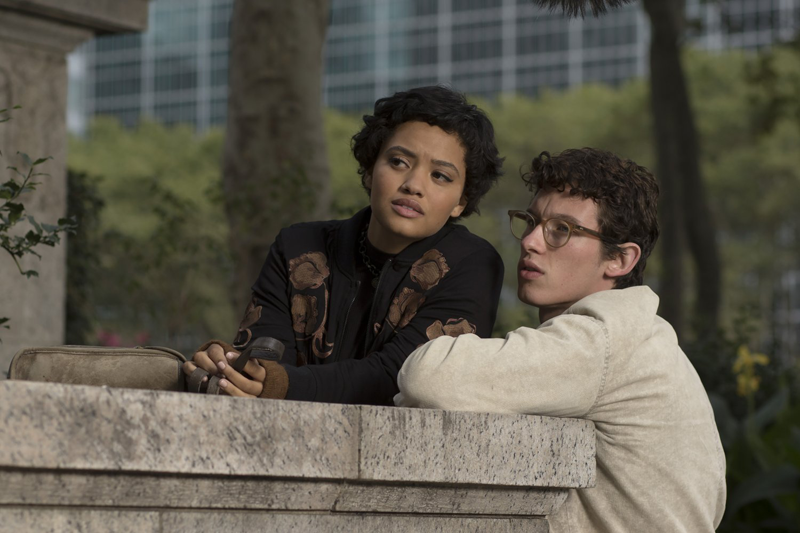 Kiersey Clemons and Callum Turner in The Only Living Boy in New York, Photo credit: Niko Tavernise, Courtesy of Amazon Studios and Roadsid Attractions
