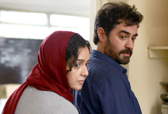 "Taraneh Alidoosti as ""Rana"" (left) and Shahab Hosseini as ""Emad"" (right) in The Salesman directed by Asghar Farhadi."