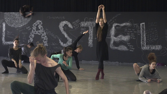Bobbi Jene rehearsing with Batsheva Dance Company in Tel Aviv. Photo courtesy Oscilloscope Laboratories
